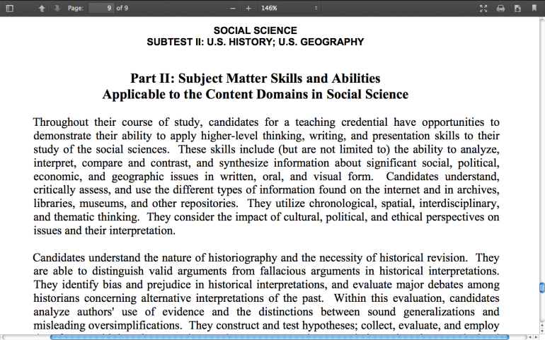 Social Science Subtest II: U S  History